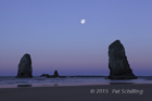 Moonset over Cannon Beach 2